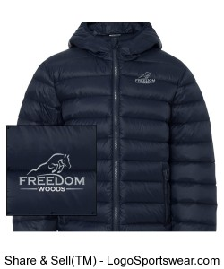 Youth Down Jacket - Navy Design Zoom