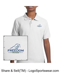 Youth Polo White Design Zoom