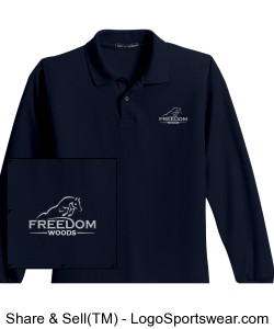 Long Sleeve Youth Polo Design Zoom