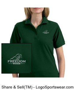 Ladies Polo - Hunter Green Design Zoom