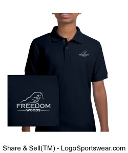 Youth Polo Navy Design Zoom